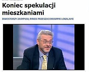 TVN 24 Koniec spekulacji mieszkaniami